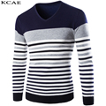3 Colors cotton sweaters men V neck mens sweaters pullover autumn winter XXL knitwear dress male 2016