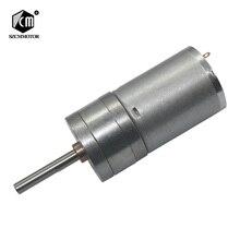 25 мм выходной вал 25 мм * 4 мм 6 В 12 В 24 В низких оборотах двигателя постоянного тока из металла geabox редуктор мотор постоянного тока мотор редуктор