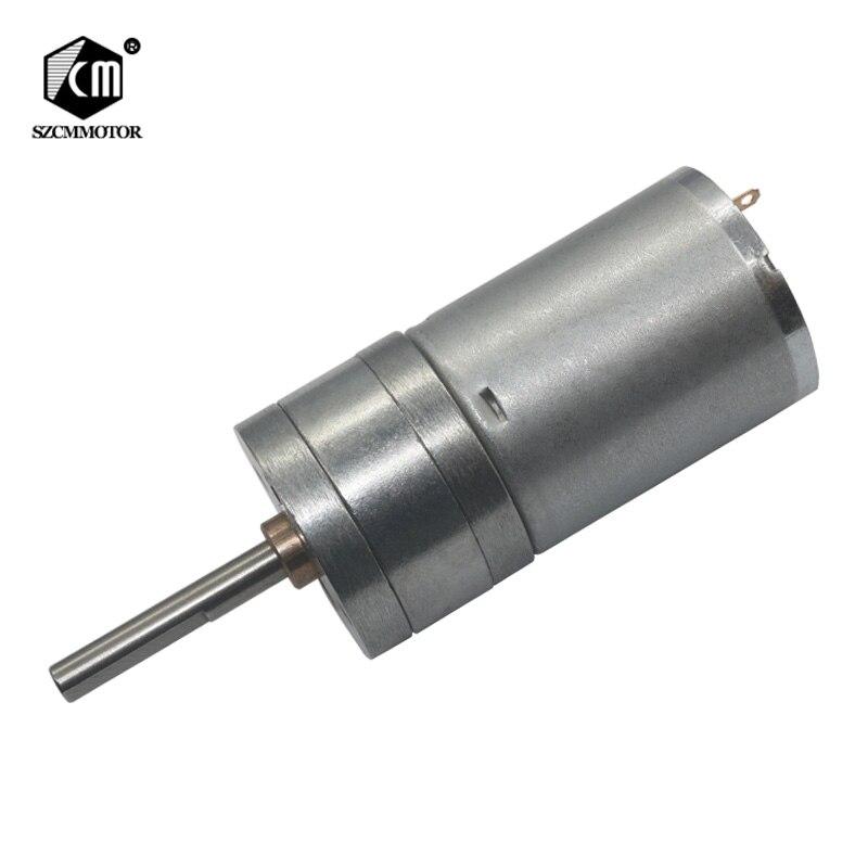 25mm Durchmesser Getriebe box 25mm * 4mm Zentralen Lange Welle 6 v 12 v 24 v niedrigen geschwindigkeit rpm dc Getriebe motor metall geabox Pinsel Getriebemotoren
