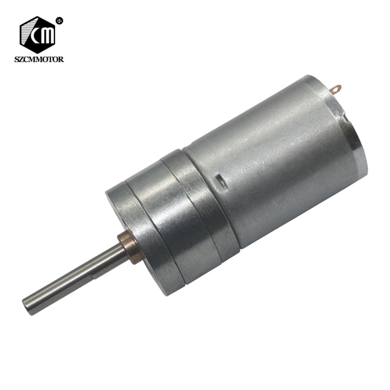 Mm de Diâmetro Gear box 25 25mm * 4mm Central Eixo Longo 24 12 6 v v v baixo velocidade rpm dc motor Da Engrenagem geabox metal Escova Motoredutores
