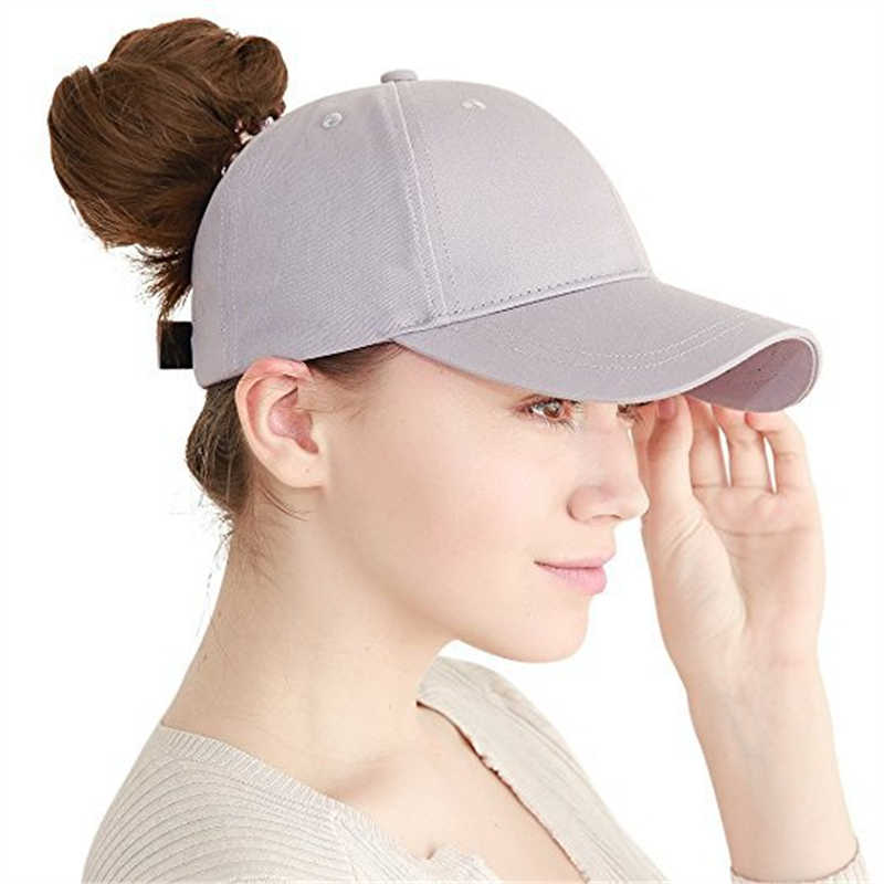 7e570f1962fdf ... wholesale Ponytail cap 2018 Glitter Women Baseball Cap Girls messy bun  baseball Caps Snapback Summer Sports ...