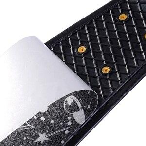Image 4 - 22inch Board Sticker Skateboard Sticker Solid/Printed Anti slip Waterproof Adhesive Single Rocker Sandpaper for Penny Board