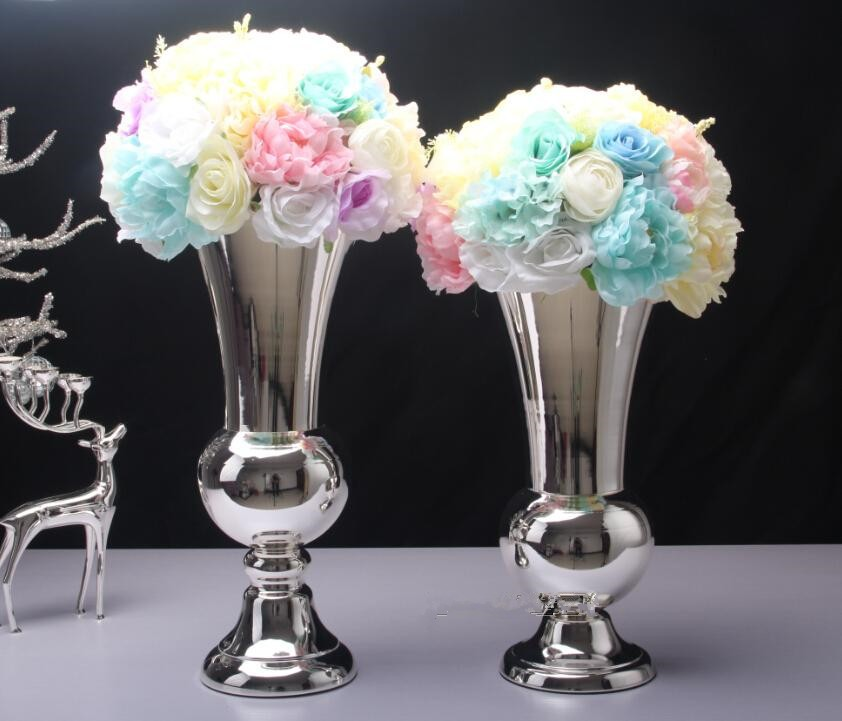 Luxury Wedding Gift Ideas: Metal Luxury Vase Silver Color Wedding DecorationEuropean