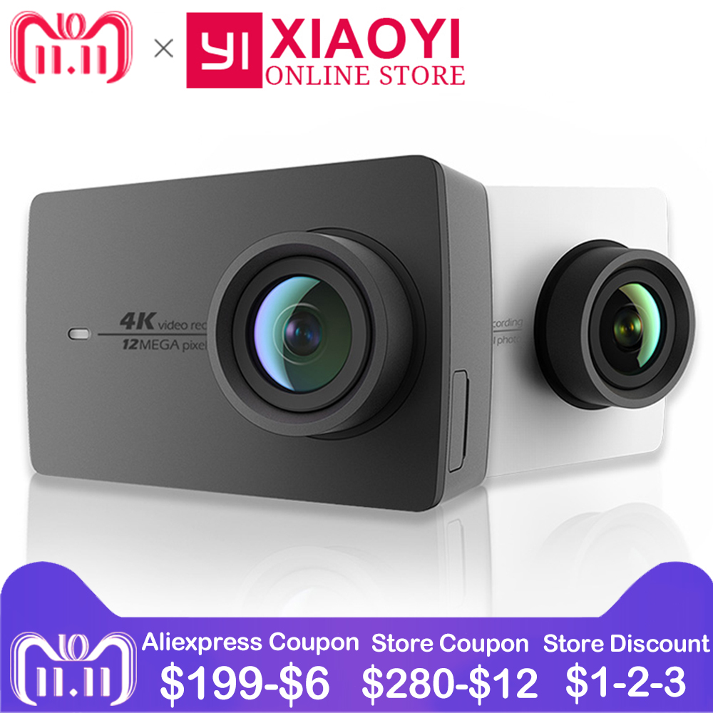 цена на Xiaomi YI 4K Action Camera Xiaoyi Wifi Sports Camera Ambarella A9SE 2.19 155 Degree 12MP EIS LDC [International Edition]
