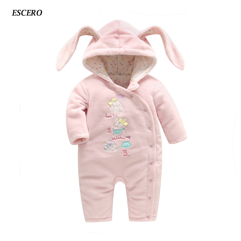 ESCERO Baby Clothing Newborn Cotton Full Rompers Bebe Girl Romper Baby Girl Clothing Bebe Winter Clothes Newborn Infant Coat baby clothes christmas costume for baby infant party dress tutus newborn jumpsuit bebe romper baby girl clothing halloween gift