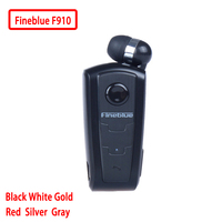 F910 100 Original In Ear Fineblue Wireless Bluetooth V4 0 Headset Vibrating Alert Wear Clip Hands
