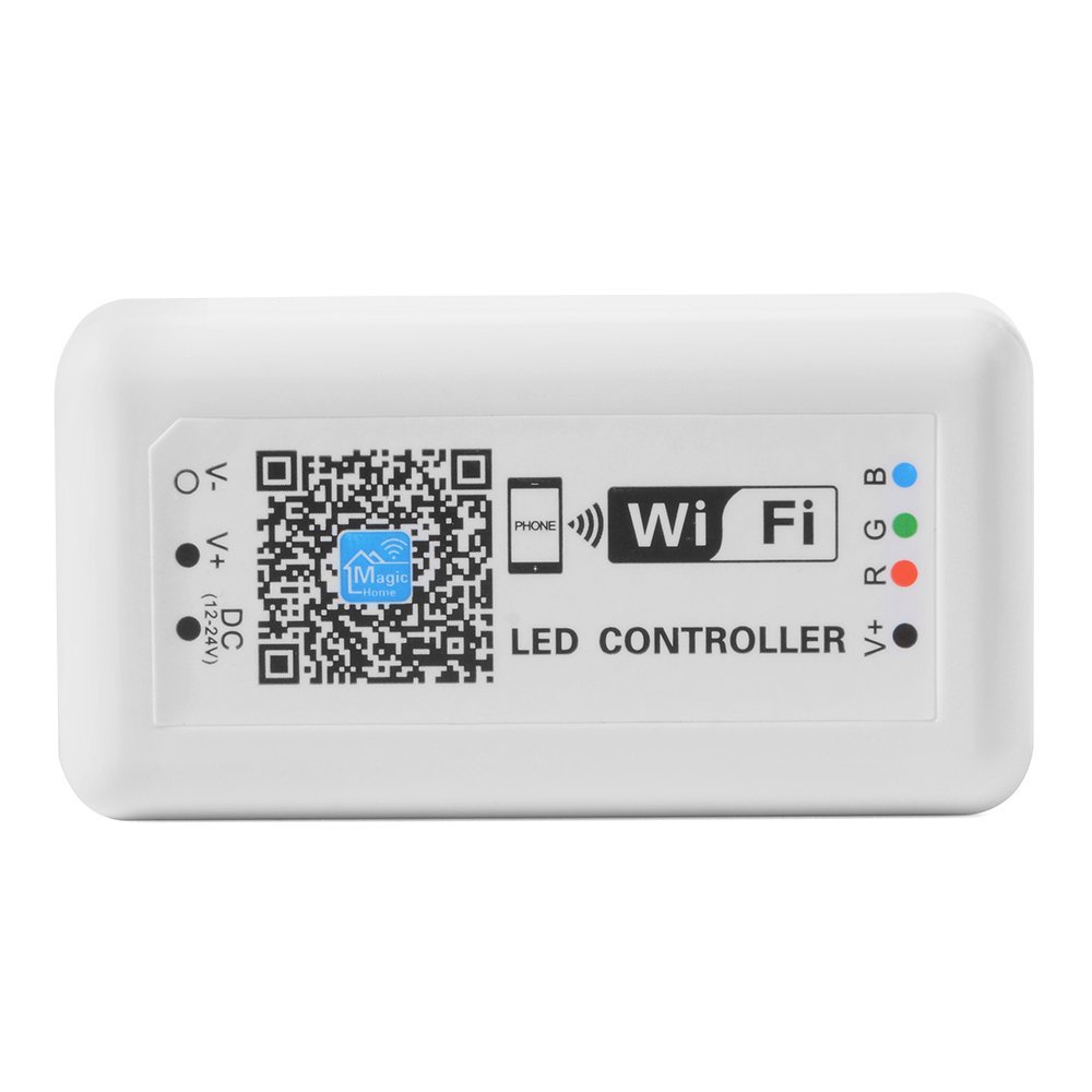 New Mini LED Wireless WIFI Smart RGB Controller For RGB LED Strip Light DC 12V Phone App Control Dimmer Dimmable mini wifi 01 smart wireless 3 ch wi fi ios android phone controlled rgb light strip controller
