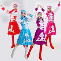 New Adult Ethnic Minority Costumes Women Mongolian Gowns Dress for Stage Performance Cosplay Chinese Folk Dance Costume 89