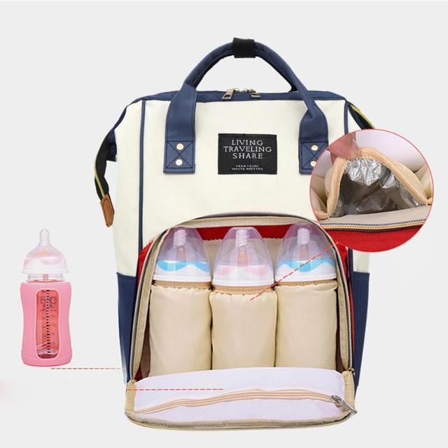 Mochilas de moda de gran capacidad mamá maternidad bebé cosas 2018 mujeres bolso de enfermería mochilas de viaje para el cuidado del bebé nuevo mochila