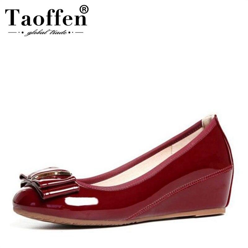 Coins ivoire Bout Noir Femmes Daily Bureau Slip Chaussures Bowknot Rond Talons Mi Red wine Taille Sur 34 Taoffen Mode 41 Pompes Ladies 5UHwqIwx
