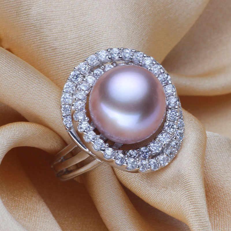 YIKALAISI 925 стерлингового серебра ювелирные кольца для женщин Ювелирное кольцо с жемчугом натуральный пресноводный жемчуг обручальное кольцо, кольца подарок