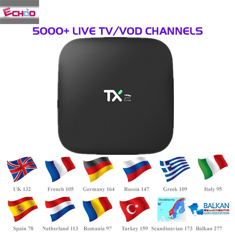 Italy iptv French iptv Box New TX 92 3GB/32GB S912 Android 7 1 TV