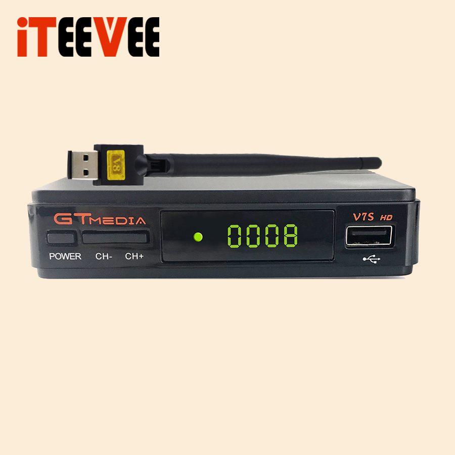 US $8 0 |1PC Gtmedia V7S HD DVB S2 HD satellite TV receiver Youtube Power  VU CCcam Newcamd Not support IPTV Free SAT S2-in Satellite TV Receiver from