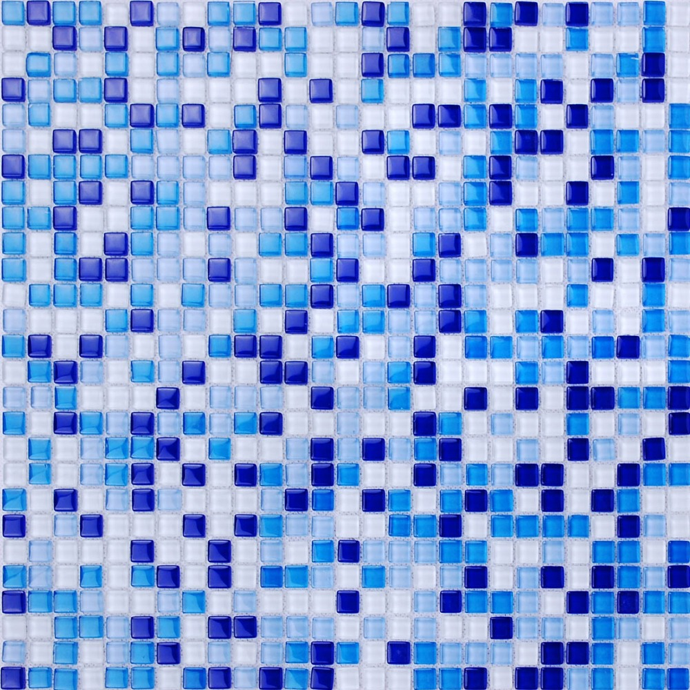 mini square blue color zone glass mosaic tiles for kitchen ...