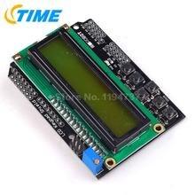 1PCS LCD Keypad Shield LCD1602 LCD 1602 Module Display Yellow and Green Screen For Arduino ATMEGA328 ATMEGA2560 raspberry pi UNO