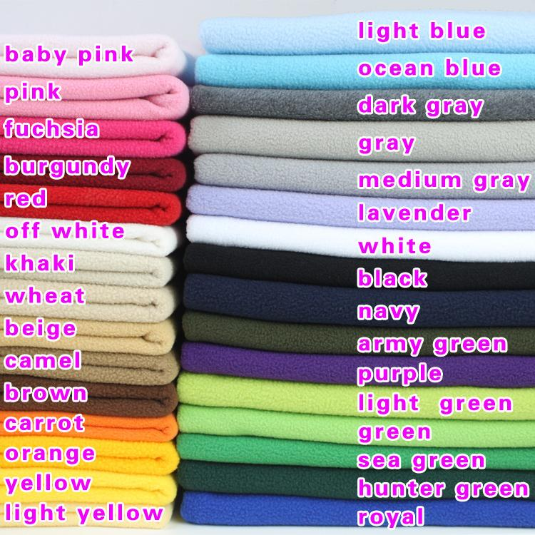 "Polyester Polar Fleece Fabric anti-pilling one-side Fleece Fabric Lining Cloth Handmade Fabric 60"" BY THE YARD FREE SHIPPING"
