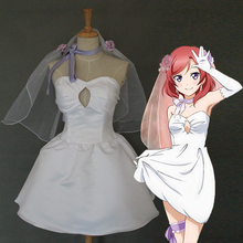 Love live Cosplay Nishikino Maki Costume Women's Dress Bridesmaid Dress Gown Rode Evening Dress