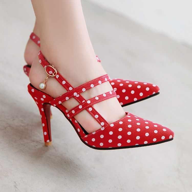 Büyük Boy 11 12 13 14 15 16 17 yüksek topuklar sandalet kadın ayakkabı kadın yaz bayanlar Sığ ağız Dalga nokta Topuklu sandalet