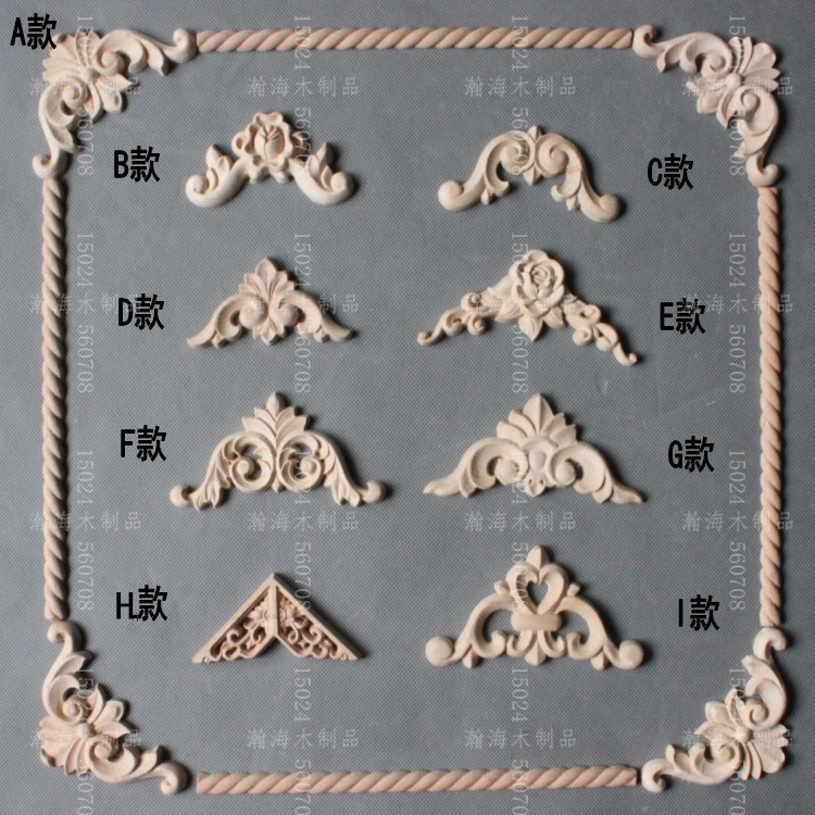 Kitchen Cabinet Appliques: Dongyang Wood Carving Fashion Applique Home Doors And