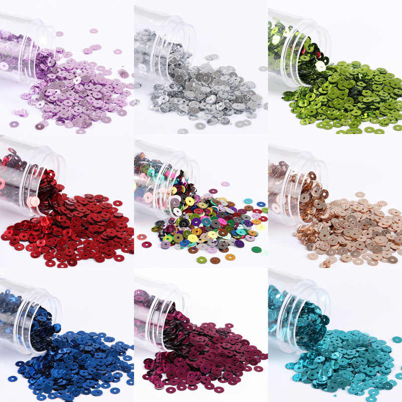 2000pcs/Pack (10g) 4mm Silver-Based Flat Round PVC Loose Sequins Paillettes Wedding Craft, Housewear Furnishings Sew Lentejuelas