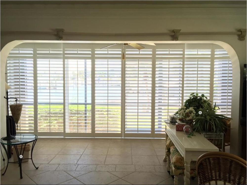 Australian Popular Wooden White Window Plantation Shutter
