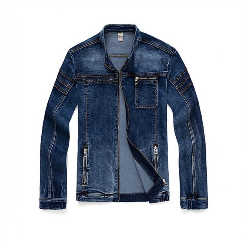2015 nueva moda Casual hombres chaqueta de mezclilla para
