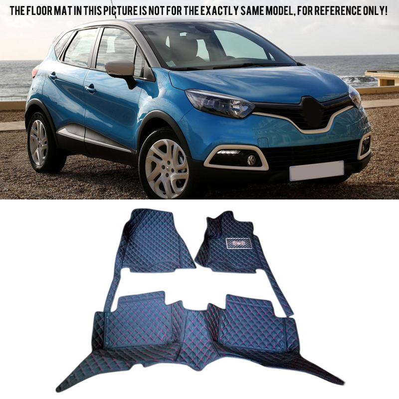 Custom Inner Front & Rear Floor Mats Carpets Foot Pad Covers For Renault Captur 2014 2015 2016 Car-styling accessories цена 2017
