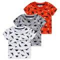 3-7ages Mundo Jurássico dinossauro crianças meninos t shirt do verão do bebê crianças meninos tops t camisas de t para crianças meninos roupas vestuário