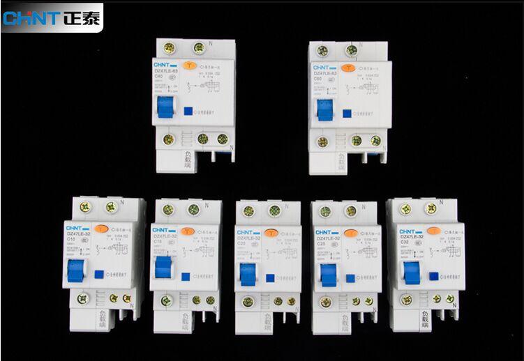 все цены на CHINT DZ47LE 1P+N 1P 16A 220V Residual current Circuit Breaker онлайн