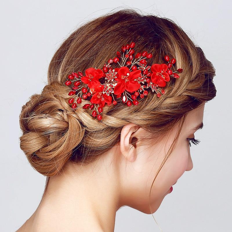 Roselife Handmade Bride Hair Accessory Wedding Hair Accessories White Flowers Hair Maker Pearl Hair