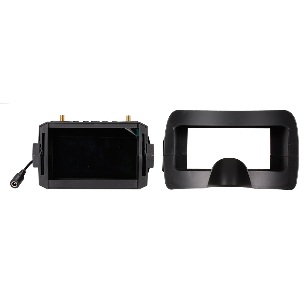 5.8G 40CH FPV Goggles VR 008 Video Headset with 5 inch LCD 800*480 Display and 7.4v 1200mah Lipo battery For RC Racing Drone fpv mini 5 8g 150ch mini fpv receiver uvc video downlink otg vr android phone tablet pc fpv mobile phone display receiver