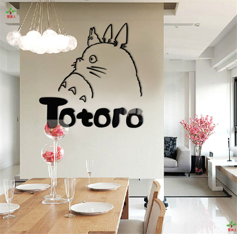 Charmant Online Shop Cute Totoro Cartoon Kids Room Wall Stickers Europe Home Decor  Background Wall Stickers Acrylic Crystal Stereoscopic 3d Hand Diy |  Aliexpress ...