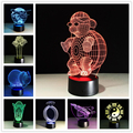 New Fashion 3D Table Lamp Creative Acrylic Flower LED Night Light Colorful Atmosphere Decoration Table Lamp for Children