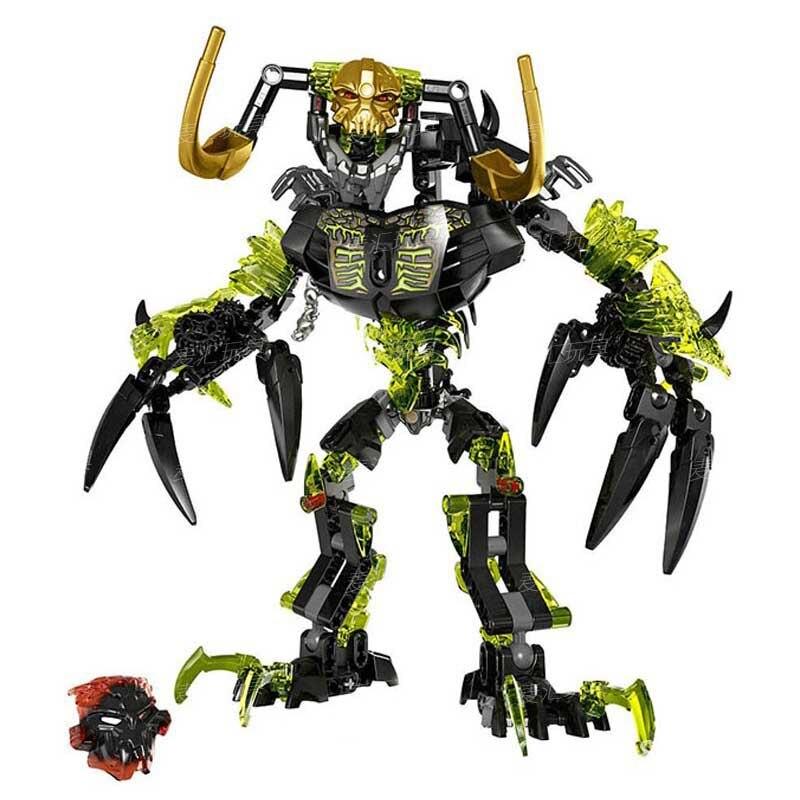 1 Pcs Bionicle Umarak Destruidor Bioquímica Guerreiro Building Block Brinquedos Bionicle Legoings KSZ 614 Compatível