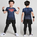 Niños Camiseta 2017 Summer New kids Spiderman Deportes chicos dry fit Ropa de Chicos de Dibujos Animados de Moda de manga corta Camiseta de La Impresión envío dl0224 de