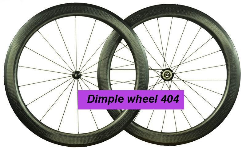 dimple 404 505 808 wheel set Full Carbon Fiber Road Wheel set 700C 50mm 25mm width Free decals bicycle wheel