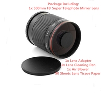 500mm f/8 Super Telephoto Mirror Lens for Nikon SLR D3 D3S D3X D60 D90 D300S D1 Camera