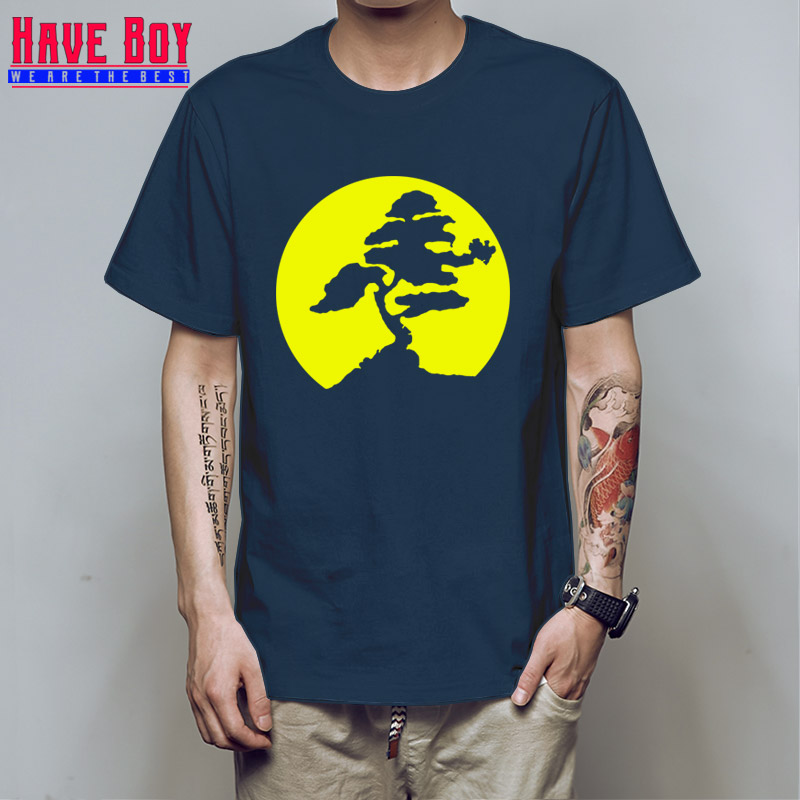 053d0ed0 Have boy Customized XS-3xl Graphic Art Men T-Shirt Miyagi Banzai Tree Karate  Kid Patch Tshirt Vintage Latest T Shirt Men HB539