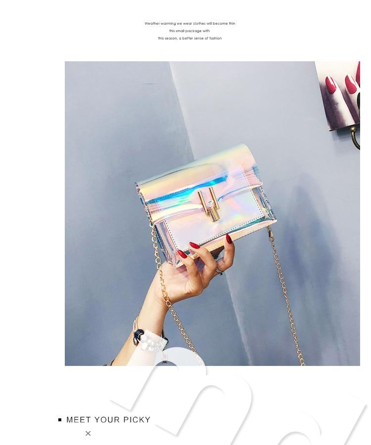 Jollque, bolso cruzado transparente de PVC para mujer