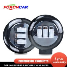 Foxcncar 4.5 Inch 48W Spotlight Led Light Bars Spot Flood Beam for Work Driving Offroad Boat Car Tractor Truck SUV ATV 12V 24V(China)