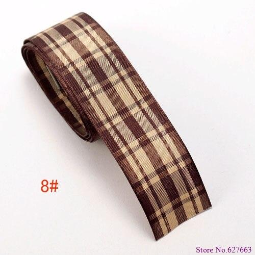 free shipping 1 25mm width MOQ is 50 yard styles polyester scottish font b tartan b