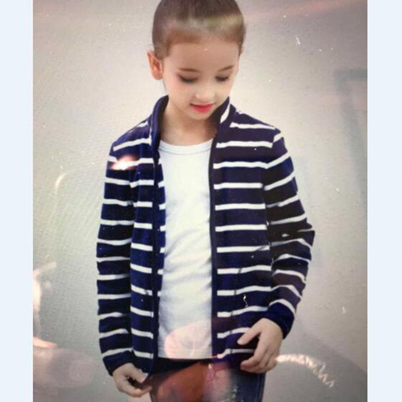 New Spring Autumn Children Kids hooded Brand sweatshirts girls boys Baby boys girls Striped Fleece jackets and coats for 2-8Y