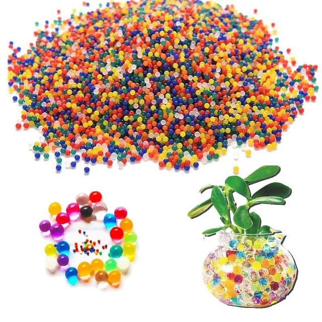 1000Pcs/lot Super Water Beads Crystal Soil Water Beads Mud Orbiz Growing Ball  Water Bulbs Magic Jelly Balls Wedding  orbeez big