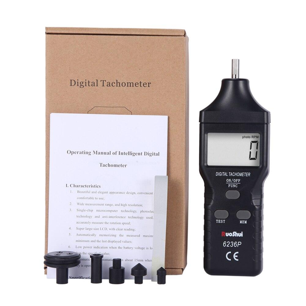 Digital Tachymètre RPM Vitesse de rotation Gauge Meter Testeur Compteur de tours Tach