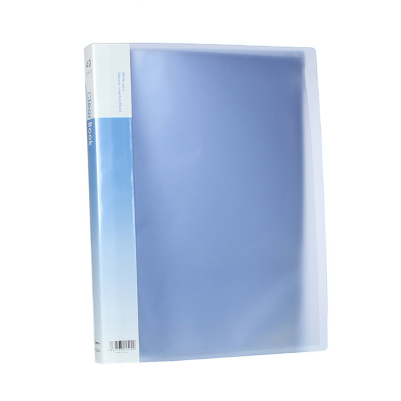 Creative PVC Clear Book A4 Paper File Folder 30 Pocket Presentation Document Rectangle Lightblue Yellow Purple Colors, 1 PC
