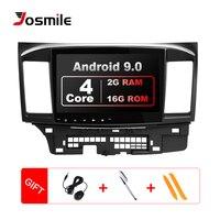 Josmile Car Multimedia Player 2 Din Android 9.0 For Mitsubishi Lancer X 9 10 2008 201510.1 inch 4G AutoRadio GPS Navigation Wifi