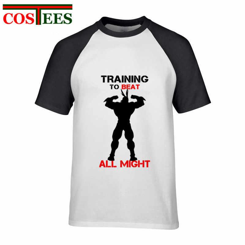 2ec063ffb5cf8 ... Parody Cartoon Training To Beat All Might T shirt men Funny U.A High  men s t- ...