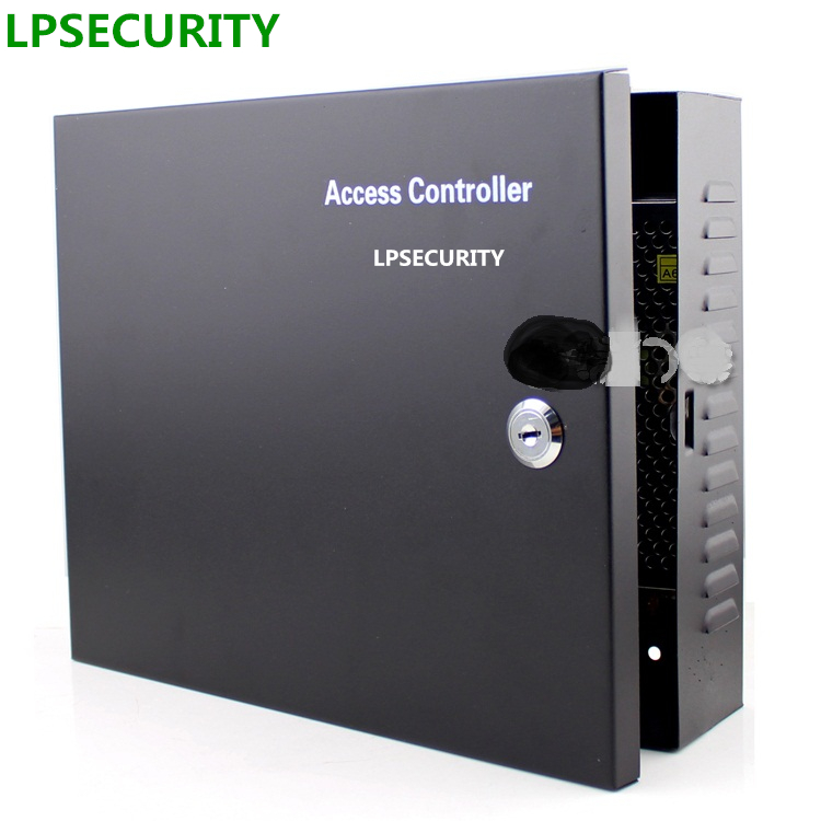LPSECURITY TCP/IP RJ45 12V 10A Gate Door Lock Access Controller Board With Power Box 1 Door 2 Door /4 Door Controller