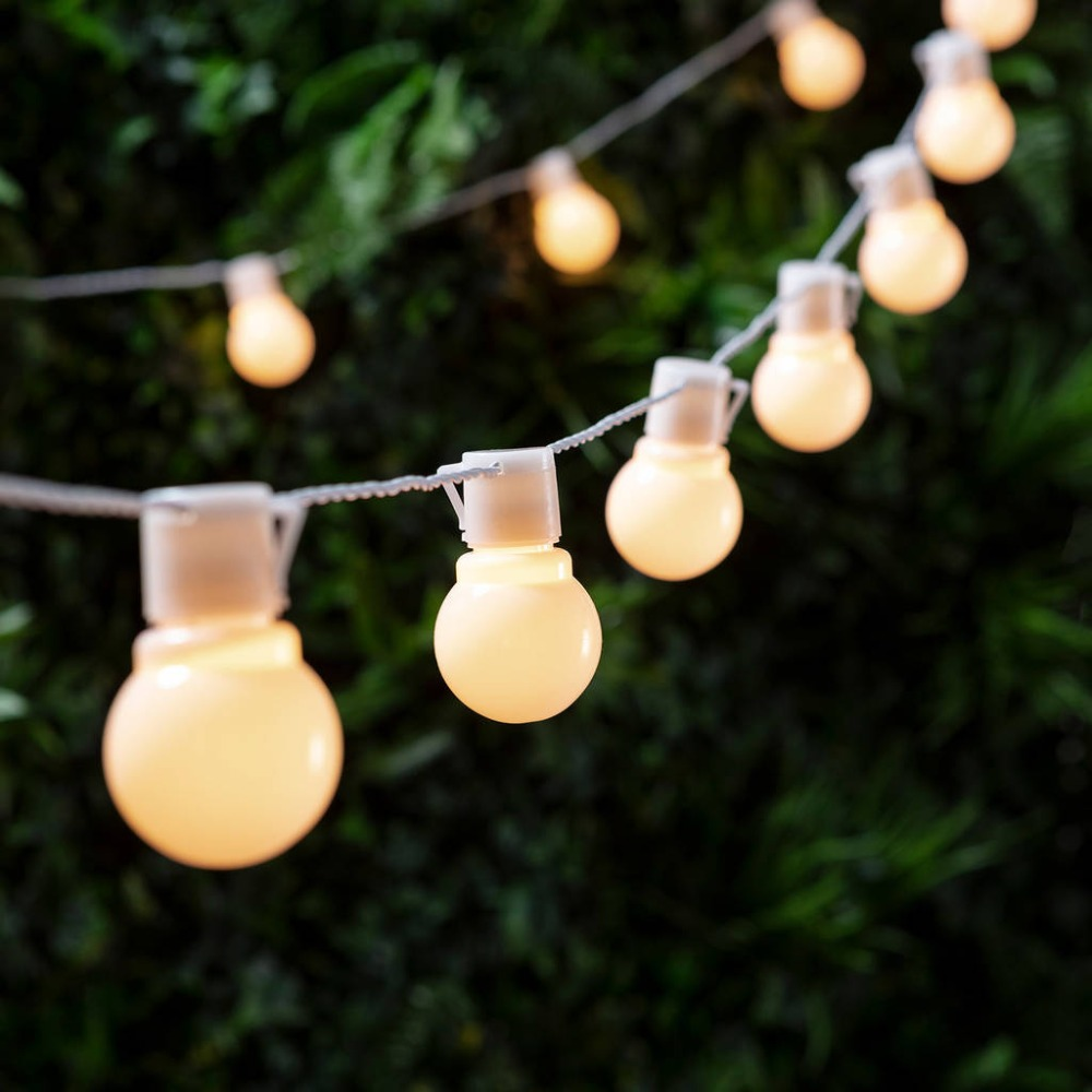 Novelty Outdoor Lighting 6M LED 20 Bulbs String Lamps White Wire Christmas Light Fairy Wedding Decoration Garden Pendant Garland