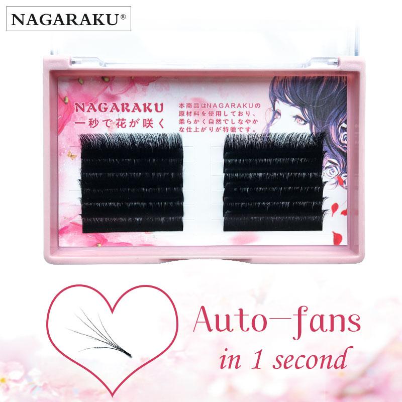 NAGARAKU автоматический веер, магнитные Камелия, красота, наращивание ресниц, цветение, автомобильные вееры, ресницы, легкие ресницы